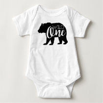 Wild One Bear | First Birthday Party Baby Bodysuit