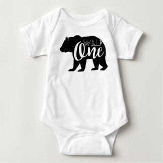 Wild One Bear | First Birthday Party Baby Bodysuit