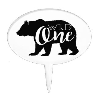 Wild One Bear | First Birthday Party Cake Topper