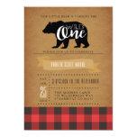 Wild One Bear   First Birthday Party Invite