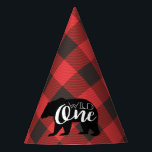 "Wild One Bear | Flannel First Birthday Party Hat<br><div class=""desc"">By Redefined Designs</div>"