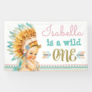 Wild One Birthday Banner Tribal 1st Birthday