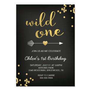 17 birthday invitations zazzle wild one birthday invitation stopboris Image collections