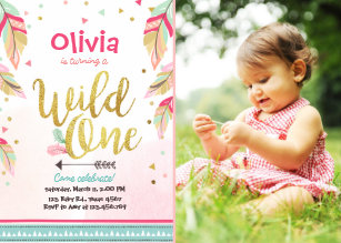 Save 60 on wild one birthday invitations limited time only zazzle wild one birthday invitation first birthday girl filmwisefo