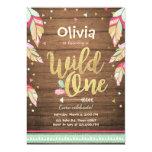 Wild One birthday invitation First birthday Girl