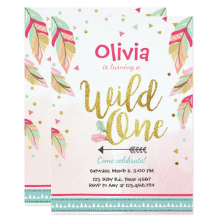 Girls First Birthday Invitations & Announcements | Zazzle