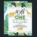 "Wild One Birthday Invitation Jungle Animals Party<br><div class=""desc"">Tropical Wild One Birthday Invitation 