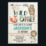 "Wild One Birthday Invitation - Tribal Animals<br><div class=""desc"">He&#39;s wild and he&#39;s about to be one! Celebrate your wild one&#39;s first birthday with this adorable invitation complete with &quot;wild&quot; little tribal animals!</div>"
