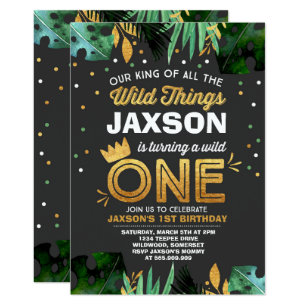 King invitations zazzle wild one birthday invitation wild things birthday filmwisefo