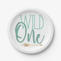 Wild One | Blue | First Birthday Party Paper Plate