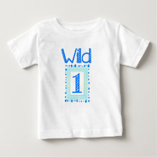 Wild One Blue Green First Birthday Outfit Baby T-Shirt