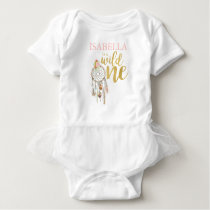 Wild One Bodysuit Boho Floral Birthday Outfit