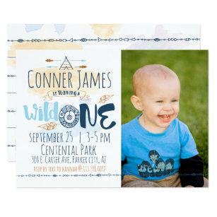 Boy First Birthday Invitations Announcements Zazzle