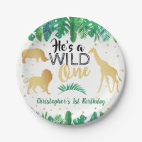 Wild One Boys First Birthday Party Paper Plate