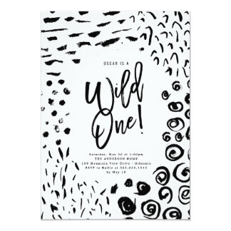 Wild One First Birthday Animal Print Invite