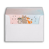 Wild One First Birthday Envelope Woodland Animals