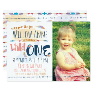 Wild One Invitations Announcements Zazzle - Birthday invitation for one year baby