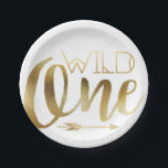 "Wild One | First Birthday Party Paper Plate<br><div class=""desc"">By Redefined Designs</div>"