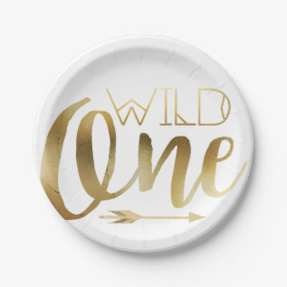 Wild One | First Birthday Party Paper Plate at Zazzle