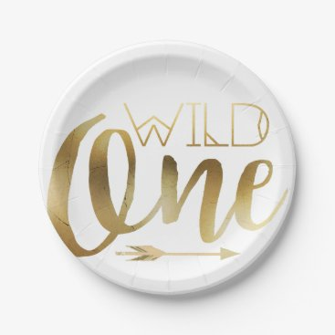 birthday Wild One | First Birthday Party Paper Plate