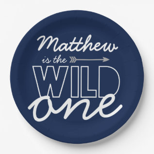 Wild One First Birthday Party Paper Plates at Zazzle
