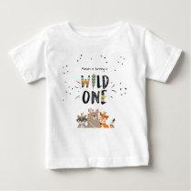 Wild One First birthday T-shirt Tribal woodland