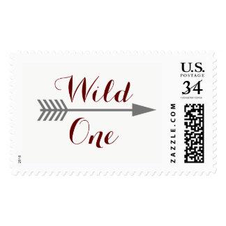 Wild One -gray arrow- stamp
