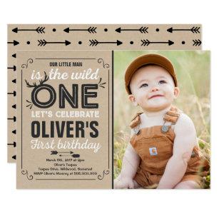 boy 1st birthday invitations zazzle