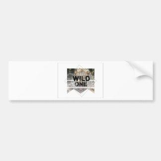 wild one.jpg bumper sticker