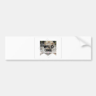 wild one.jpg bumper sticker