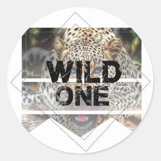 wild one.jpg classic round sticker