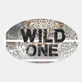 wild one.jpg oval sticker