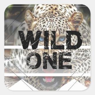 wild one.jpg square sticker