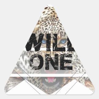 wild one.jpg triangle sticker