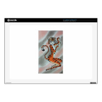 "Wild One Lady Tiger Original 17"" Laptop Skins"