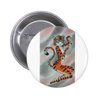 Wild One Lady Tiger Original Button