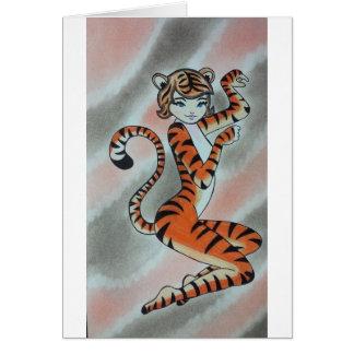 Wild One Lady Tiger Original Card