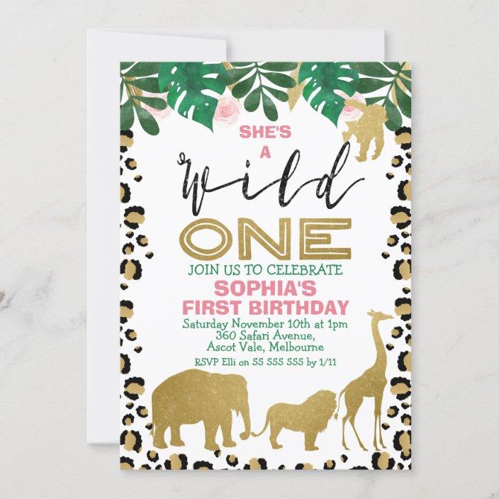Jungle Birthday Party Invites  Safari Birthday Party Invites  Semi-Custom Invites  Little Boy Birthday Party  Printed Invitations