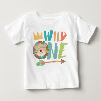 Wild One Lion and Arrow | Boho | One Year Old Baby T-Shirt
