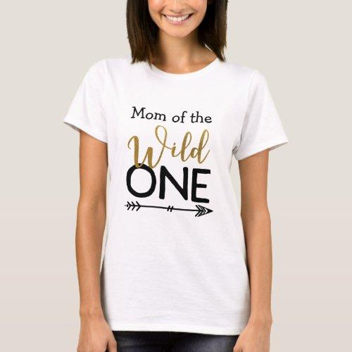 Wild One Mom T_shirt