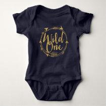 Wild One|One Year Old Baby Bodysuit