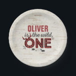 """Wild One Paper Plate 7&quot; Rustic Lumberjack Wild One<br><div class=""""desc"""">Wild One Paper Plate 7&quot;  All designs are &#169; PIXEL PERFECTION PARTY LTD</div>"""