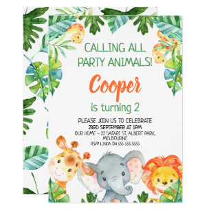 Birthday Invitation Template Safari 6
