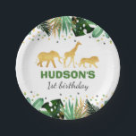 """Wild One Party Paper Plate Jungle Animals Party<br><div class=""""desc"""">Wild One Party Paper Plate.  Designed are &#169;PIXELPERFECTIONPARTYLTD</div>"""
