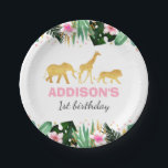 "Wild One Party Paper Plate Jungle Animals Party<br><div class=""desc"">Wild One Party Paper Plate. 