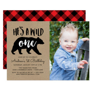 Bear Birthday Invitations Stationery