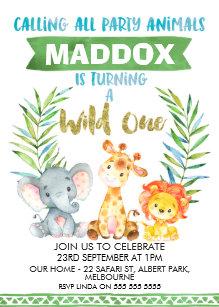 safari birthday invitations zazzle