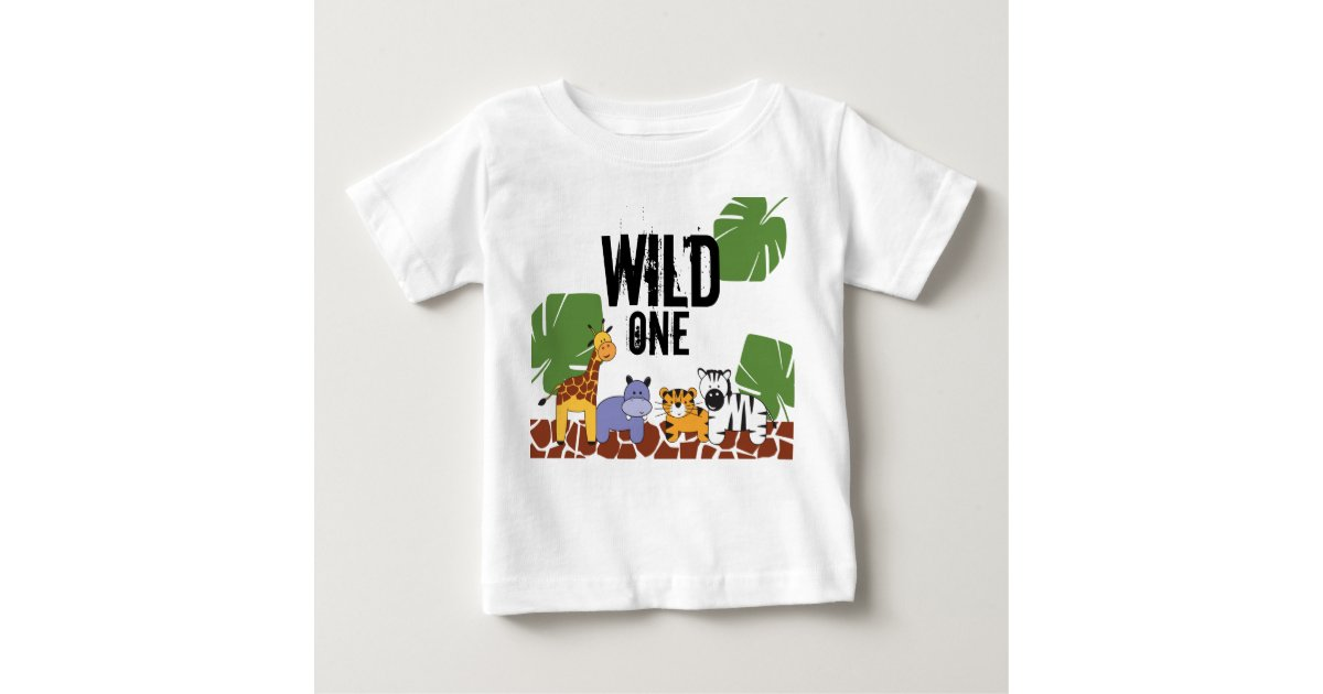 Quot Wild One Quot Safari Jungle Theme First Birthday Baby T
