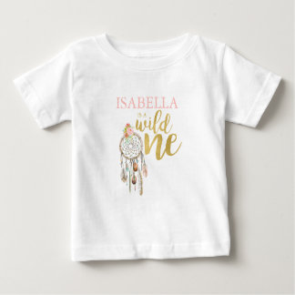 Wild One T-Shirt Boho Floral Birthday Outfit