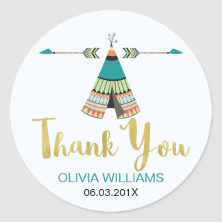 Wild one teepee Baby Shower Sticker